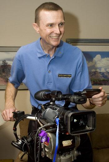 Steve Pender, video biographer & president of Family Legacy Video, Inc.