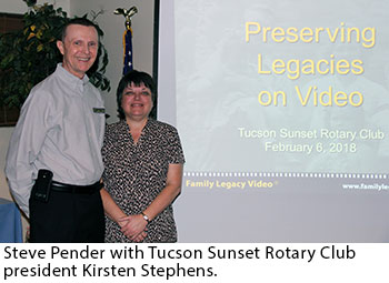Steve Pender speaks at Tucson Sunset Rotary Club