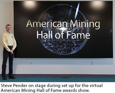 Steve Pender, American Mining Hall of Fame awards